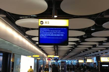 BSOD at Heathrow