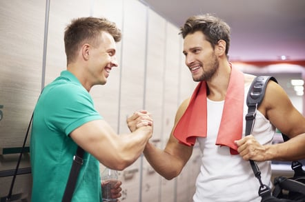 Locker room jocks photo via Shutterstock