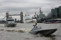 L-R: HMS Archer, A, HMS Belfast, Bladerunner (bottom)
