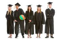 Graduation ceremony with class clown