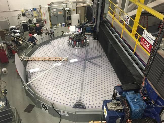 Giant Magellan Telescope mirror grinding