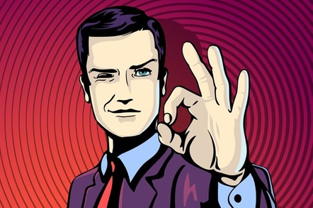 Businessman makes A-OK sign. Photo by Shutterstock