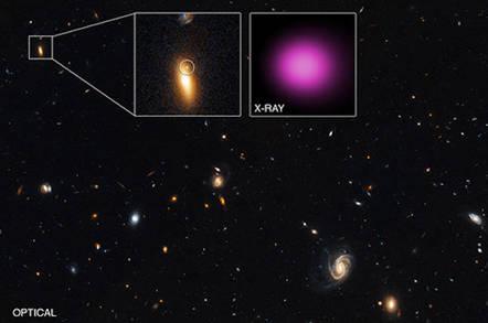 Chandra's wandering black hole