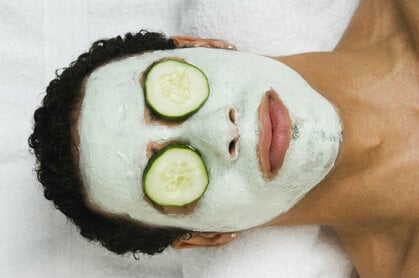 Man getting a facial. Not that kind of facial, you pervs. Photo by Shutterstock