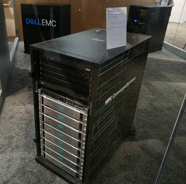 A preview of an Azure Stack solution on display at Microsoft