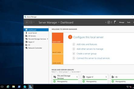 Windows Server 2016, now with Windows 10 desktop