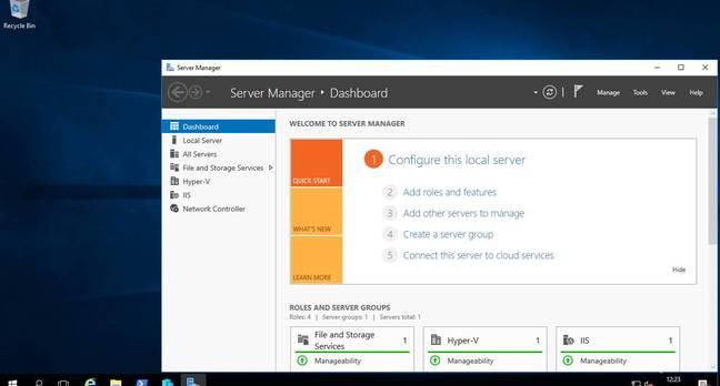 Windows Server 2016, now with Windows 10 desktop