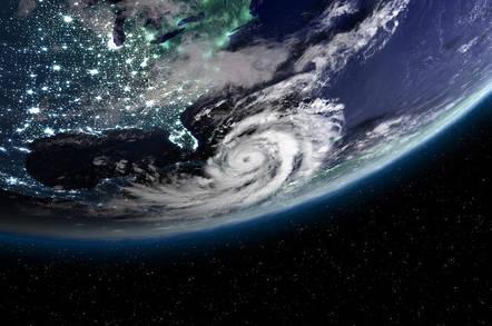 A hurricane over the east coast