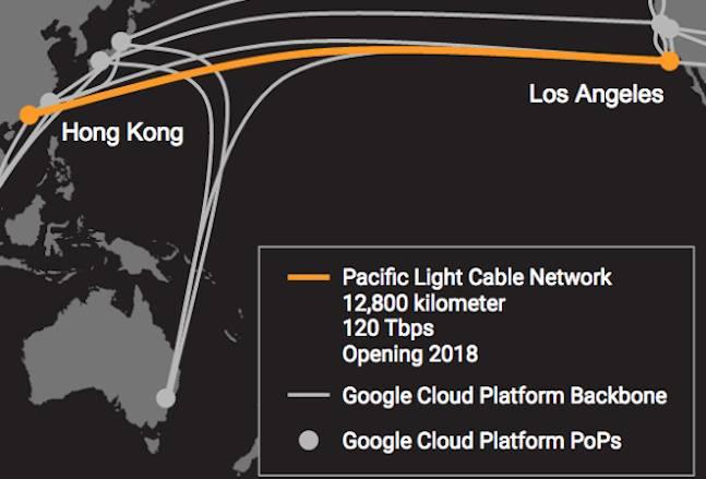 Google will connect LA and Hong Kong via undersea fibre network