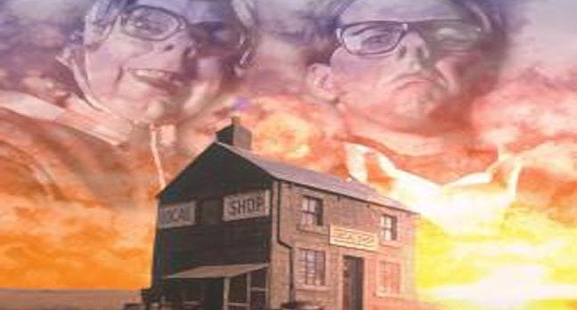 League of gentlemen poster - Tubbs and Edward at the local shop. Copyright BBC