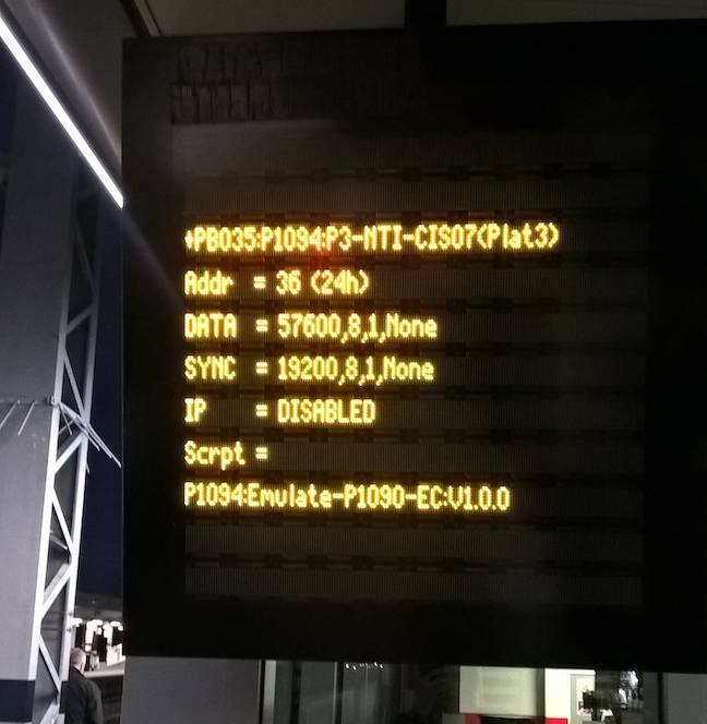 Peterborough station BSOD