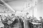shoe_factory_Uppsala_Sweden. Efraim Stensburg/Uppsala industriminnesförening
