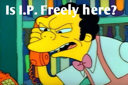 Moe answers a prank call from Bart and Lisa. (c) The Simpsons TM & Fox Pictures