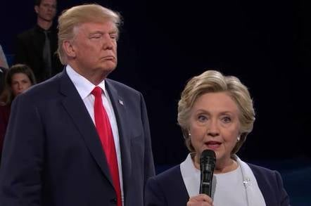 Hillary Clinton faces off with Donald Trump at the NBC debates