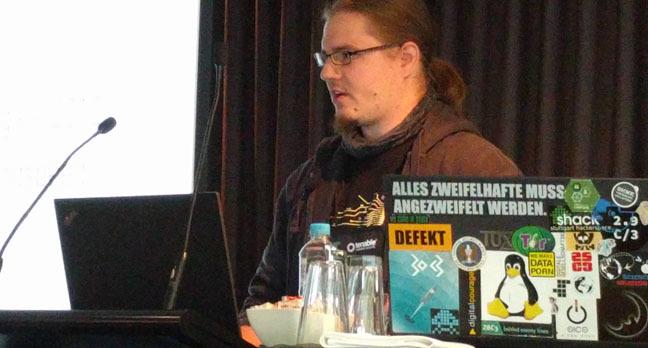 Gerhard Klostermeier. Image: Darren Pauli, The Register.
