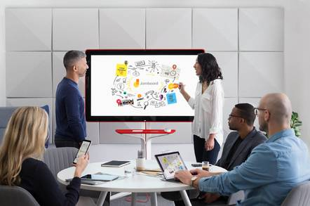 image of Google Jamboard in conference room