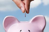 Piggy bank photo via Shutterstock