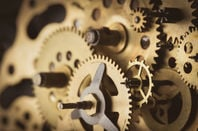 Clock gears, photo via: Shutterstock