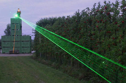 European laser rat fence pilot