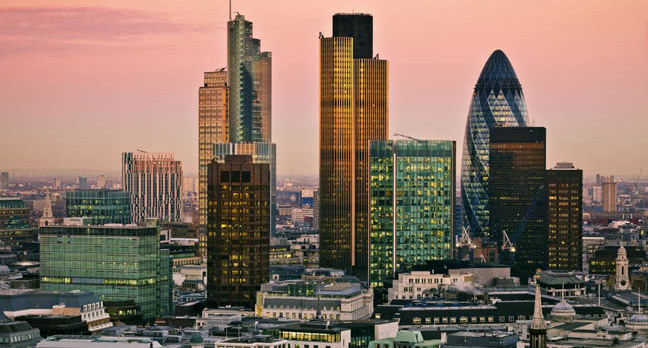 London financial centre gherkin etc. photo by shutterstock