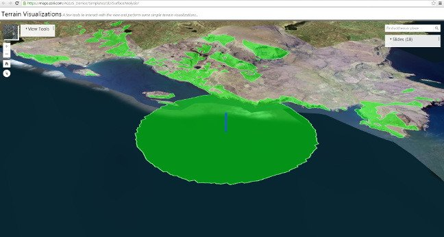 ArcGIS visualisation of Ex Unmanned Warrior data. Screenshot: Esri
