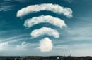 Wi-fi symbol made out of clouds. Photo by Shutterstock