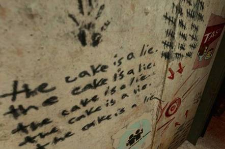 'The cake is a lie'