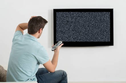 A TV with no signal