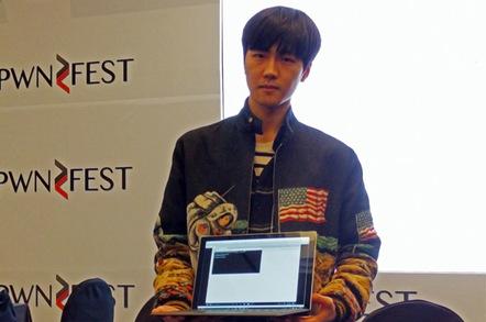 Junghoon Lee. Image: Darren Pauli / The Register