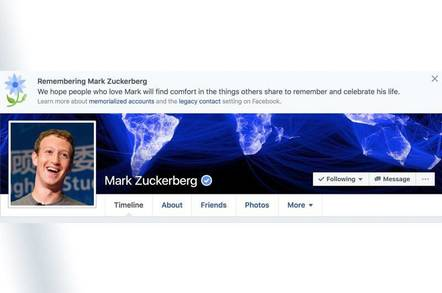 Mark Zuckerberg with memorial Facebook header