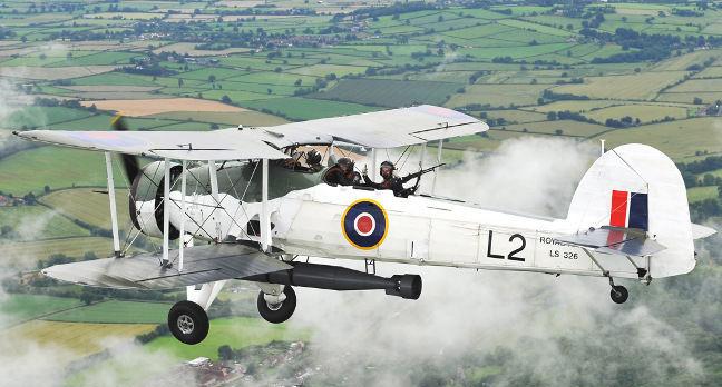 Fairey Swordfish Mk.2 LS326 of the Royal Navy Historic Flight. Crown copyright