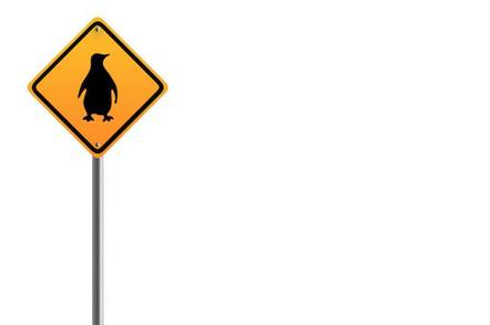 Penguin road sign