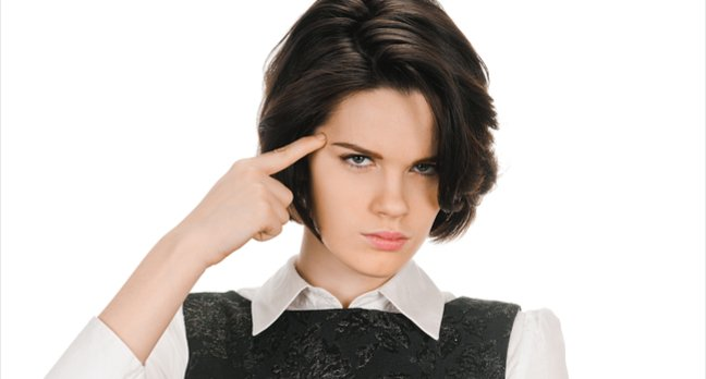 woman looks at you like you're an idiot. Photo by shutterstock