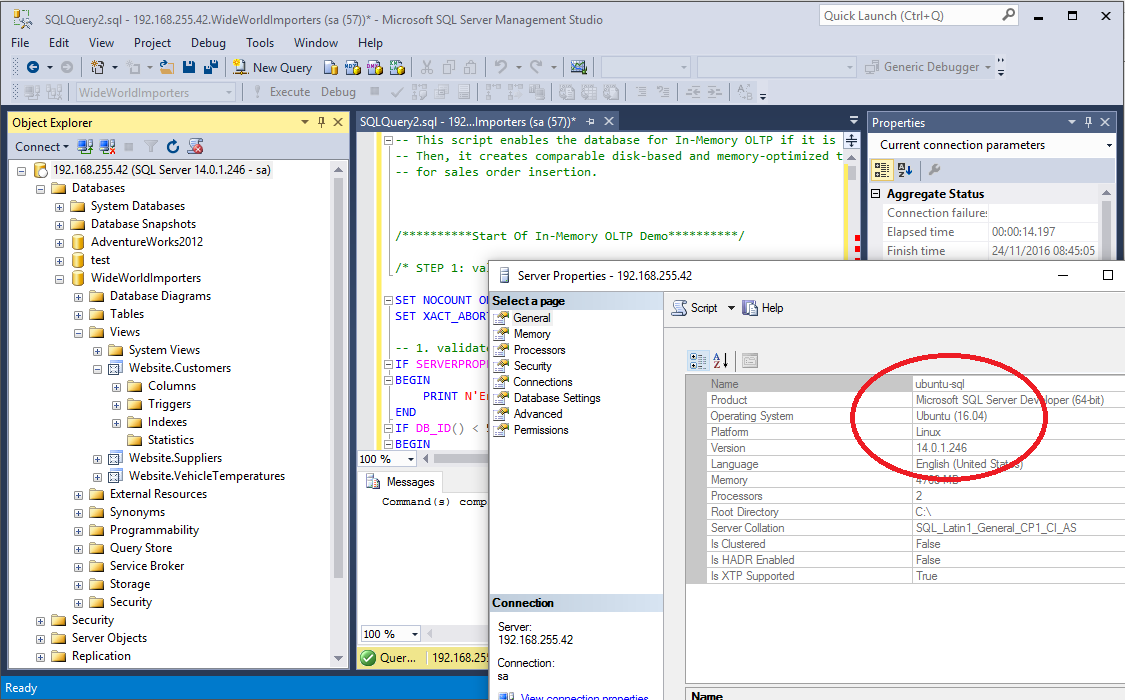 Sql server on linux runs well in spite of internal quirks - How to find a table in sql server management studio ...