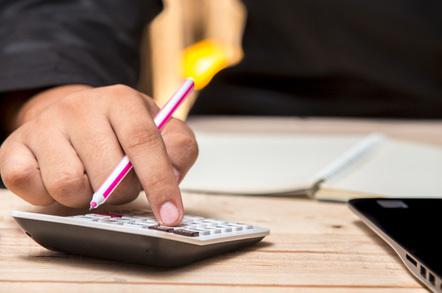 Calculating photo via Shutterstock