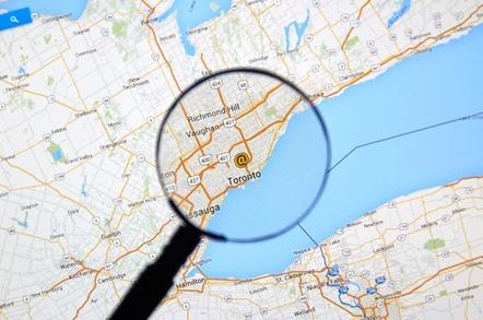 Toronto Google Map image via Shutterstock