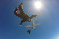 Skydivers photo via Shutterstock