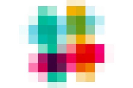 Pixellated Slack logo