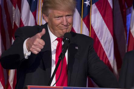 Donald Trump thumbs up photo via Shutterstock
