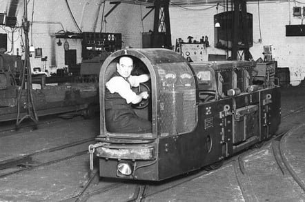 Mail rail Royal Mail courtesy of The British Postal Museum and Archive