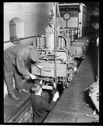 Train repair Mail Rail Royal Mail courtesy of The British Postal Museum Archive