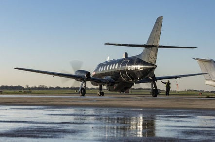 BAE Systems' Jetstream 31 testbed, G-BWWW. Pic: BAE Systems