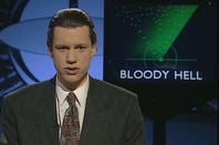 Chris Morris in Brass Eye. Channel 4