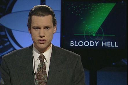 Chris Morris in Brass Eye. Channel 4
