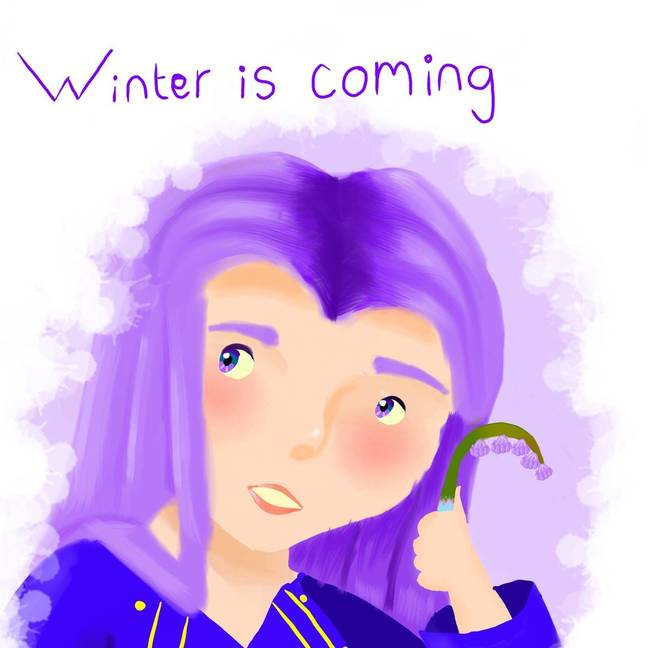 'Winter is coming' painting