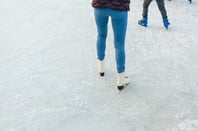 Ice skating photo via Shutterstock