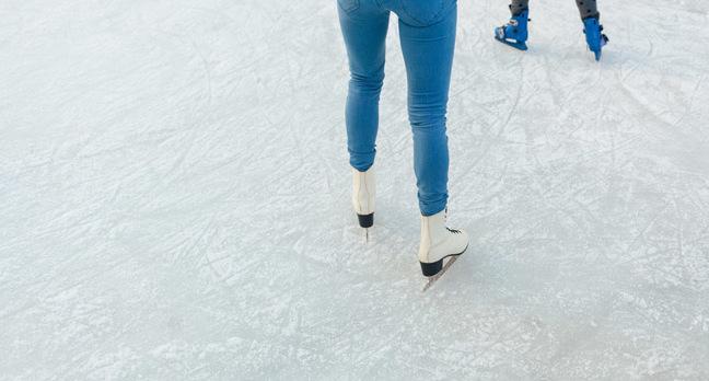 Ice skating photo via Shutterstock