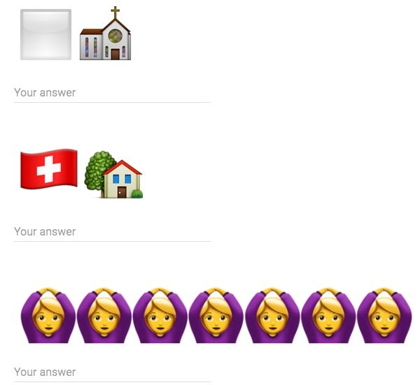 Emoji translation test for Emoji translator job
