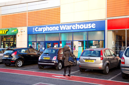 he exterior of the carphone warehouse on January the 23rd, 2015, in London, England, UK. The carphone warehouse has over 3000 stores. Editorial Credit: Michaelpuche / Shutterstock.com