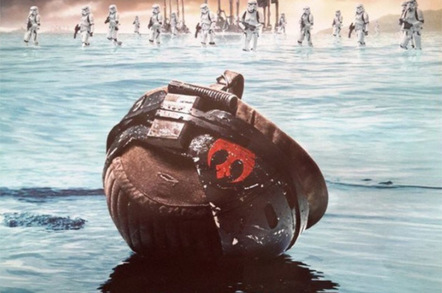 Rebel helmet Rogue One Russian poster